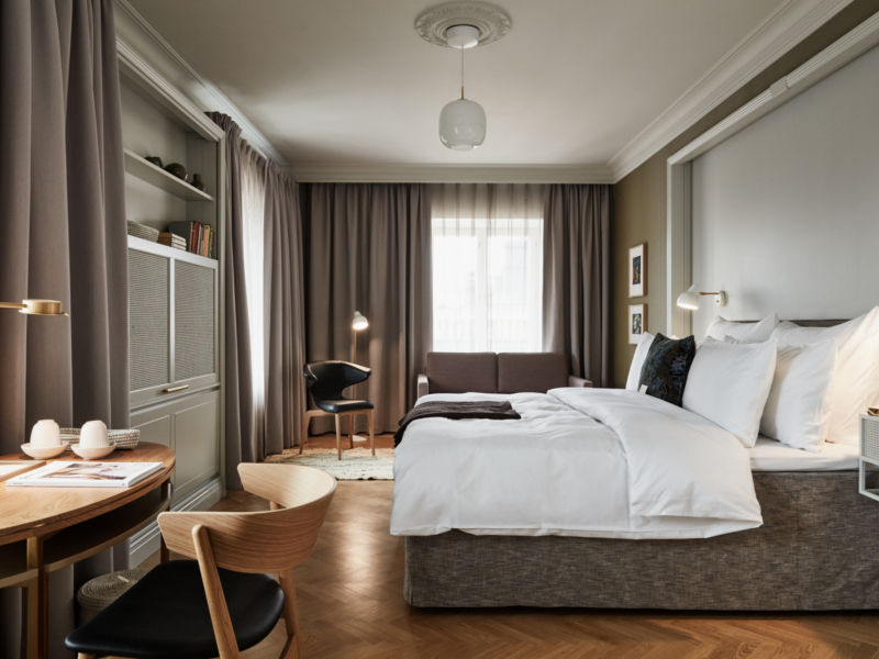 Elegant and stylish hotel room in Helsinki city center at luxury hotel Hotel St. George