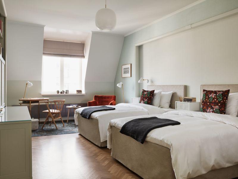 Hotel St. Georgen Companion Twin -huoneet on suunniteltu ystäville ja perheille