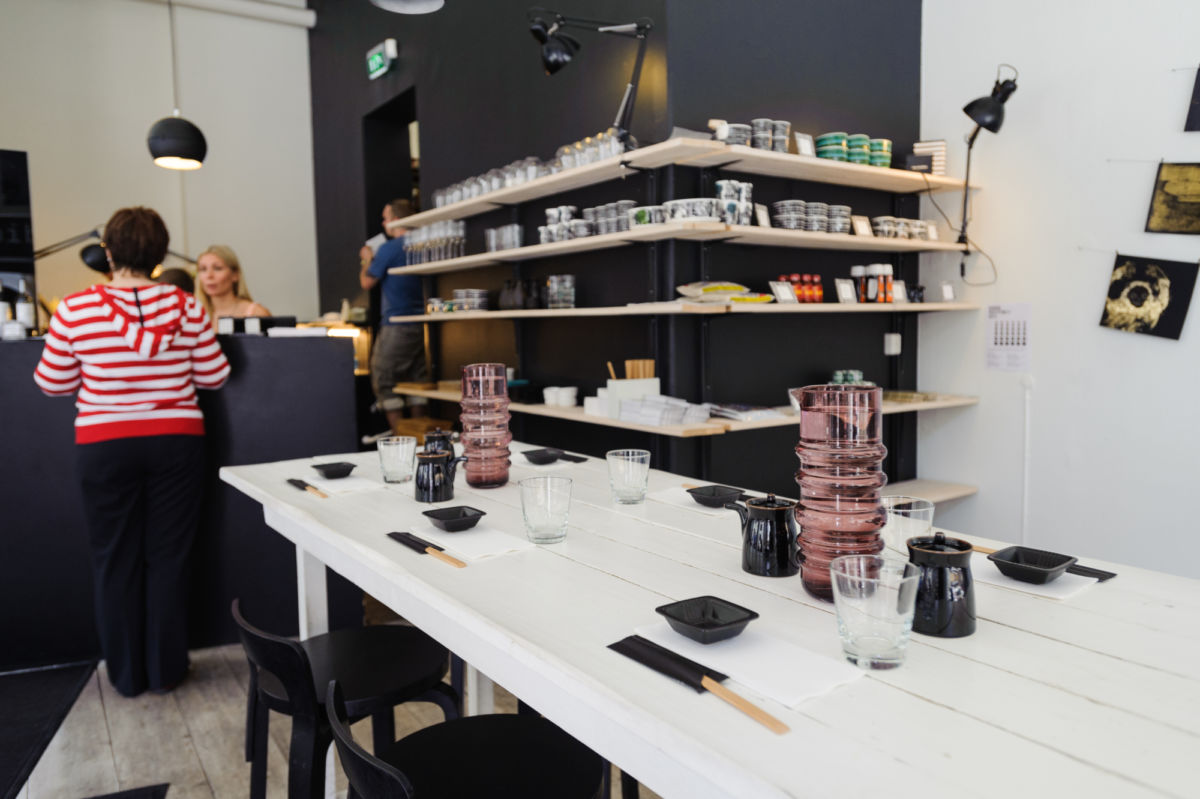 Design District Helsinki, where you can buy hats, handbags, art, jewelry and homewares