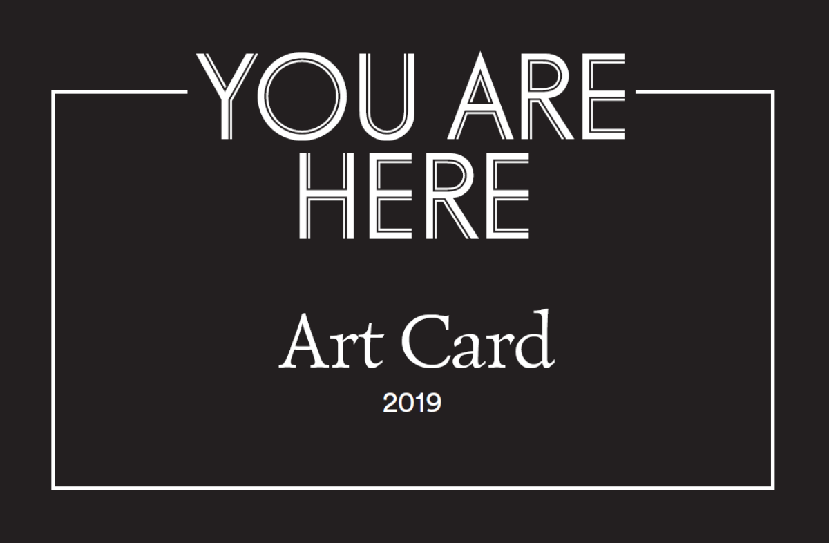 The You Are Here Art Card that gives Hotel St. George's guests a 25% discount off the price of museum tickets.