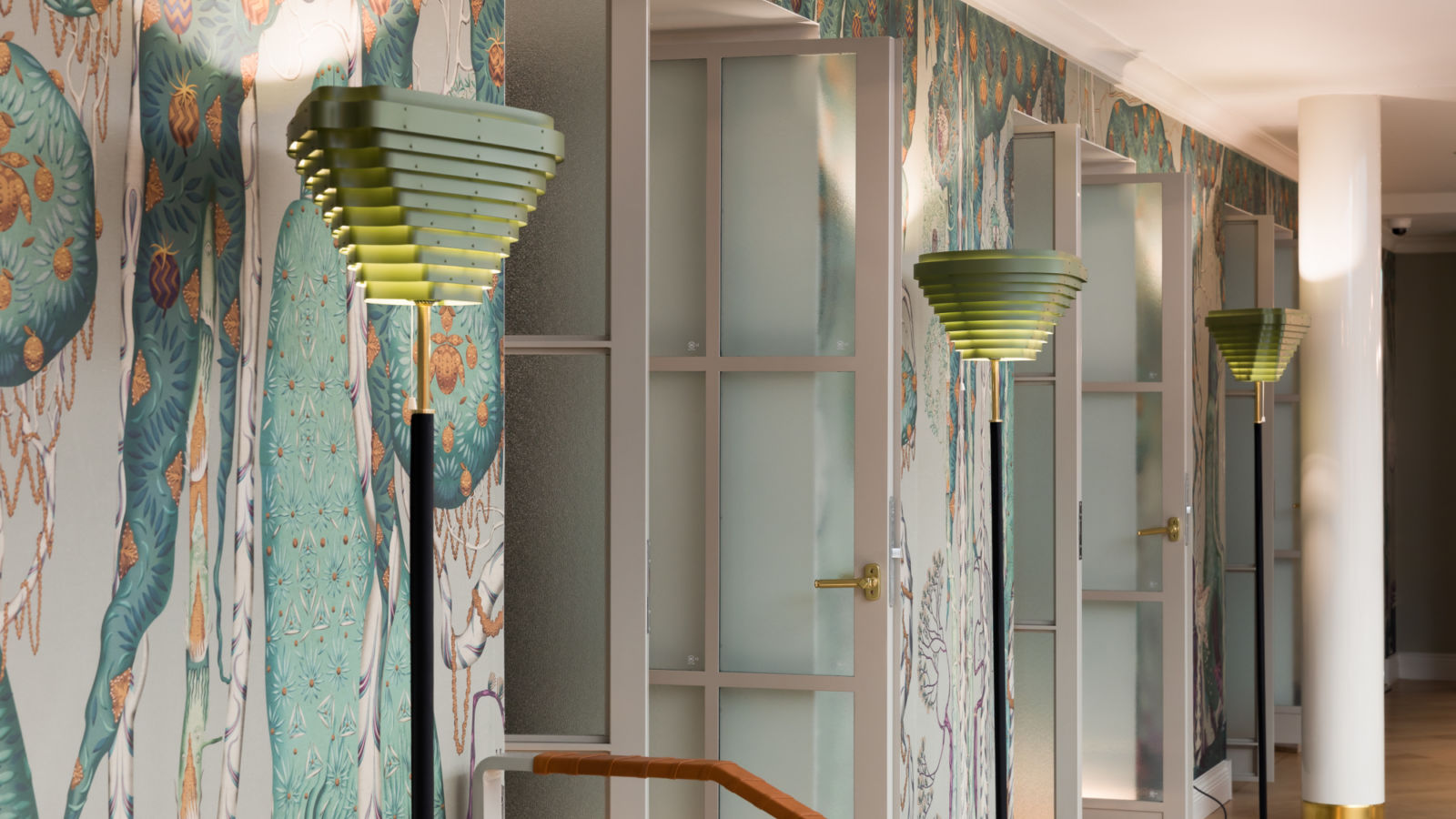 Alvar Aalto A805: Artek's iconic lamp shines in a new colour at Hotel St. George Helsinki