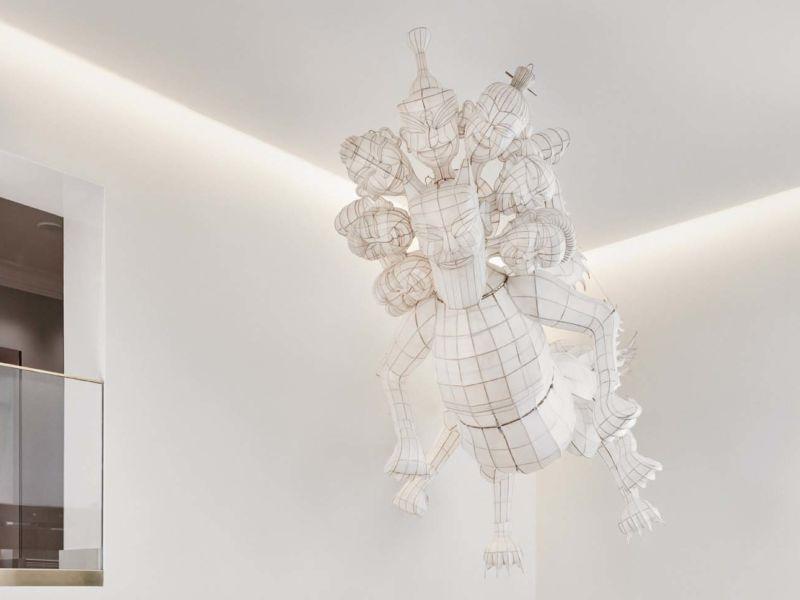 Ai WeiWei's art piece in Hotel St. George's entrance