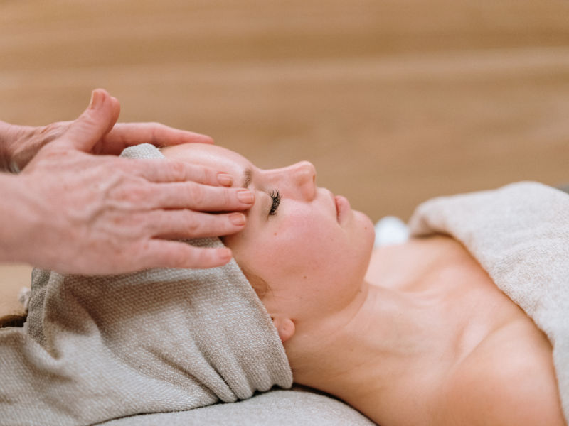 Facial massage at St. George Care Spa