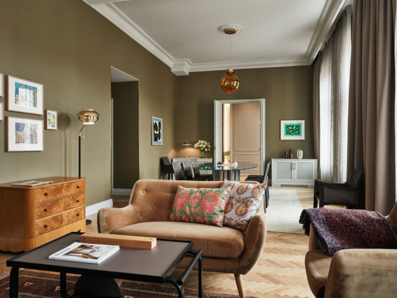 Stunning suite in Helsinki with view of the Old Church Park