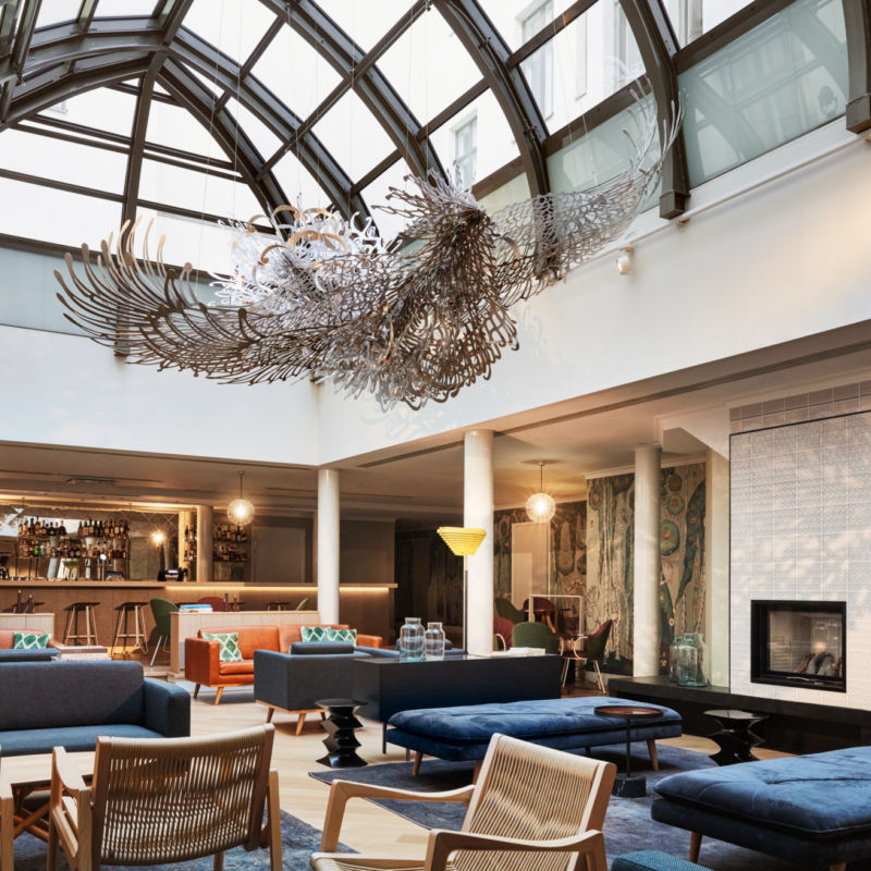 Wintergarden is the living room of the Hotel St. George, place for the guests and locals to meet.